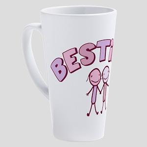 besties-pink 17 oz Latte Mug