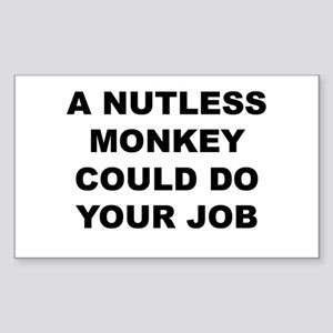 Nutless Monkey Sticker