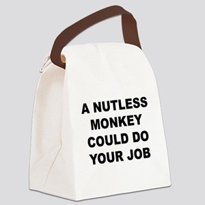 Nutless Monkey Canvas Lunch Bag
