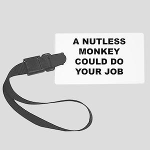 Nutless Monkey Luggage Tag