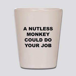 Nutless Monkey Shot Glass