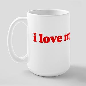 I Love My Stapler Large Mug