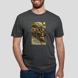 Vintage Santa Train Holiday Christmas Gree T-Shirt