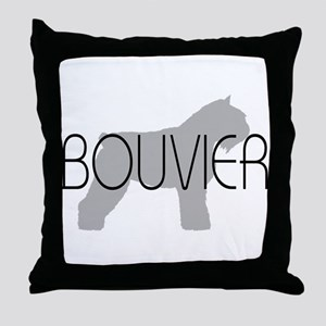 Bouvier Dog Throw Pillow