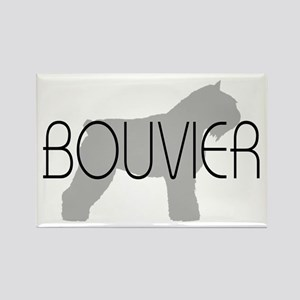 Bouvier Dog Rectangle Magnet