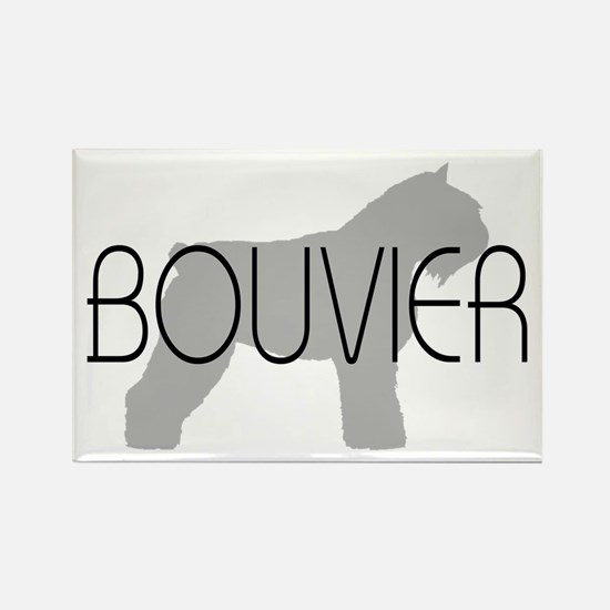 Bouvier Dog Rectangle Magnet