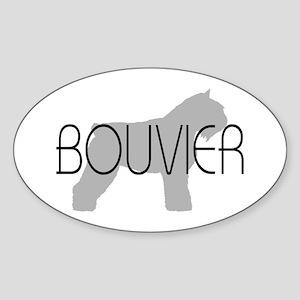 Bouvier Dog Oval Sticker