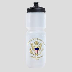 uscg_flg_d3 Sports Bottle