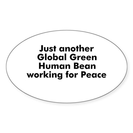 Just another Global Green Hum Oval Sticker