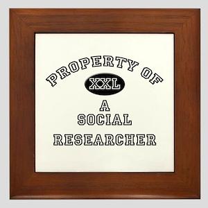 Property of a Social Researcher Framed Tile