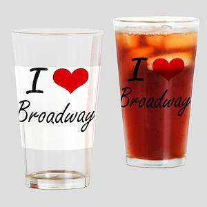 I love Broadway New Jersey artisti Drinking Glass