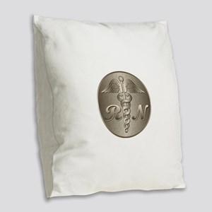 r_n Burlap Throw Pillow