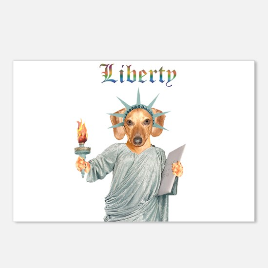 Liberty Dachshund Dog Postcards (Package of 8)