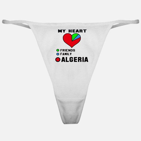 My Heart Friends, Family and Algeria Classic Thong