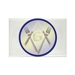Masonic Knife and Fork Degree Rectangle Magnet