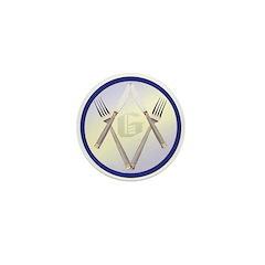 Masonic Knife and Fork Degree Mini Button