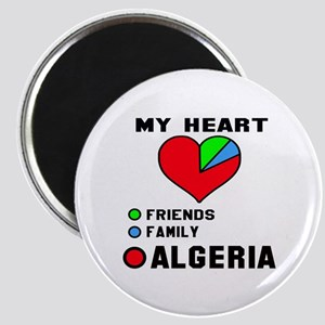My Heart Friends, Family and Algeria Magnet
