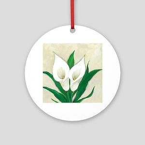 Calla Lily2 Round Ornament