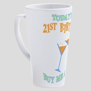 21st-birthday-drink 17 oz Latte Mug