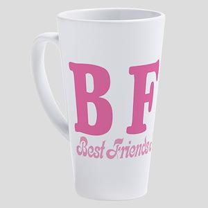 bff-pink 17 oz Latte Mug