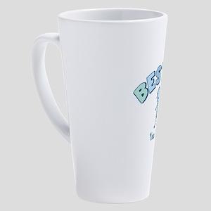 CUSTOM TEXT Besties 17 oz Latte Mug
