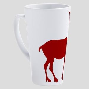 reindeer_red 17 oz Latte Mug