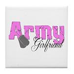 Army Girlfriend Tile Coaster