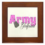 Army Girlfriend Framed Tile