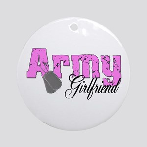 Army Girlfriend Ornament (Round)