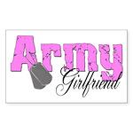 Army Girlfriend Rectangle Sticker