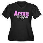 Army Girlfriend Women's Plus Size V-Neck Dark T-S