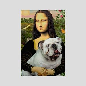 Mona's English Bulldog Rectangle Magnet