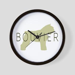 Bouvier Dog Sage w/ Text Wall Clock