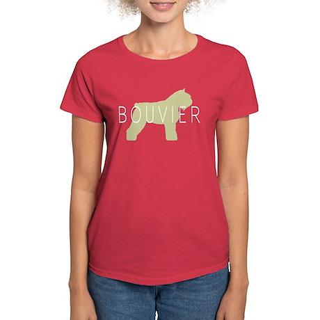 Bouvier Dog Sage w/ Text Women's Dark T-Shirt