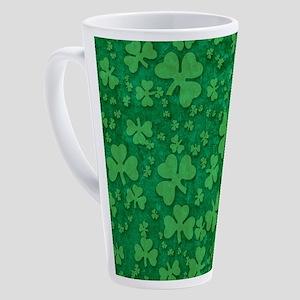 Shamrock Pattern 17 Oz Latte Mug