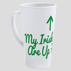 My Irish Eyes Are Up Here 17 oz Latte Mug
