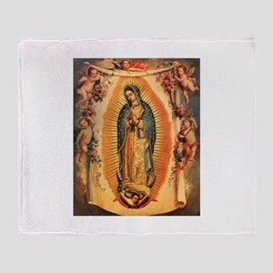 Virgin Of Guadalupe Throw Blanket