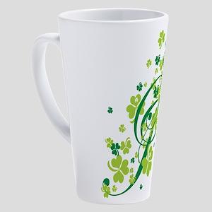 SHAMROCK-SWIRL 17 oz Latte Mug