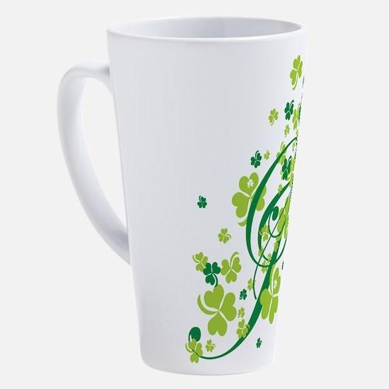 SHAMROCK-SWIRL.png 17 oz Latte Mug
