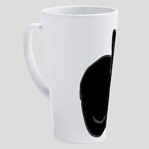 Tuxedo Cat Tuxie 17 oz Latte Mug