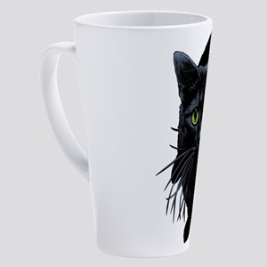 black-kitty 17 oz Latte Mug