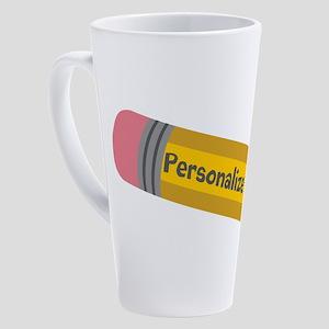 PERSONALIZED Cute Pencil 17 oz Latte Mug