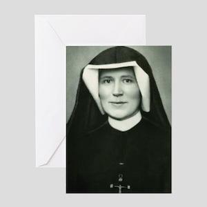 Saint Faustina Greeting Cards