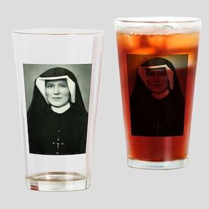 Saint Faustina Drinking Glass