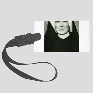 Saint Faustina Large Luggage Tag