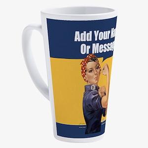 CUSTOM TEXT Vintage Rosie 17 oz Latte Mug