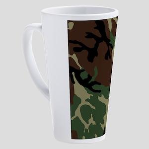 Camouflage Pattern 17 oz Latte Mug