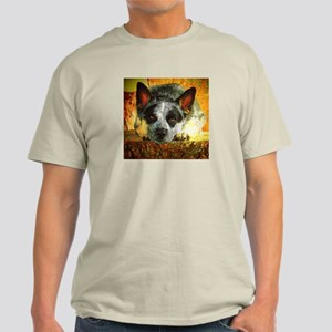 "AuCaDogs ""Pensive ACD"" Photo Art Light T-Shirt"