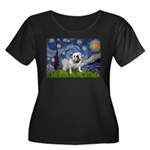 Starry Night English Bulldog Women's Plus Size Sco