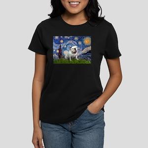 Starry Night English Bulldog Women's Dark T-Shirt